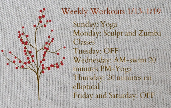 Weekly Workout 1_19