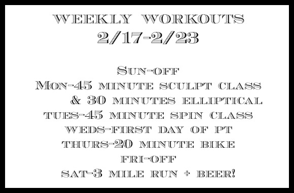 weekly workouts 2_23