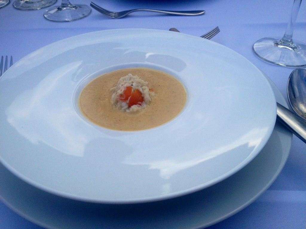 ... tomato soup made with a special ingredient of vanilla beans. The soup