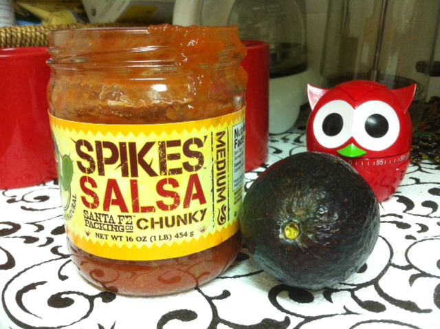 salsa and ripe avocado