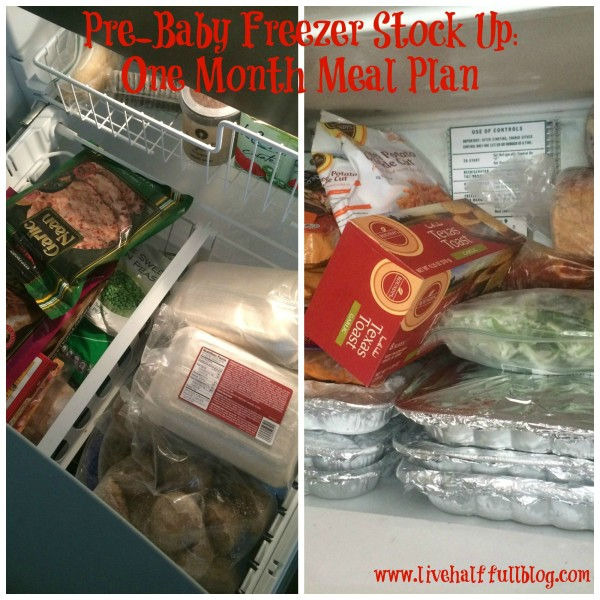 Pre-Baby Freezer Stock Up- One Month Meal Plan