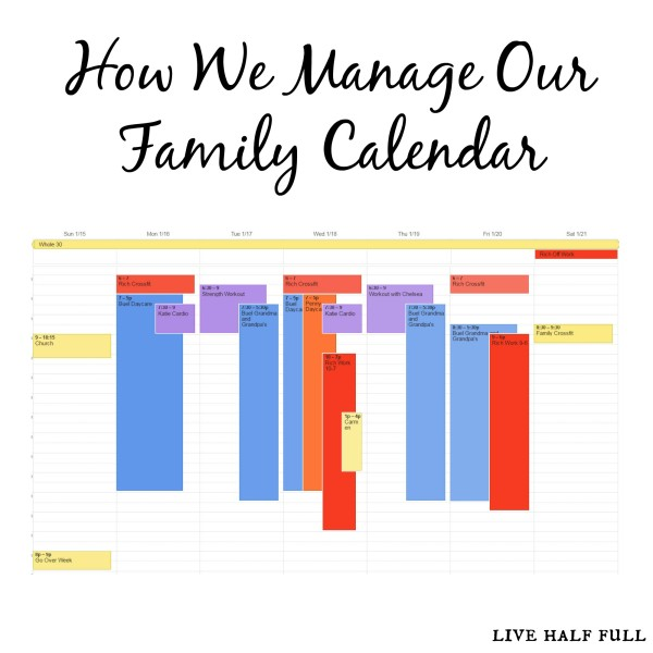How We Manage Our Family Calendar