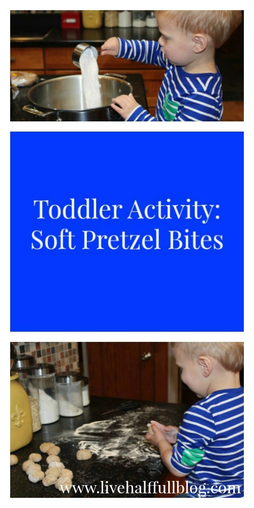 Rainy Day Toddler Activity Soft Pretzel Bites