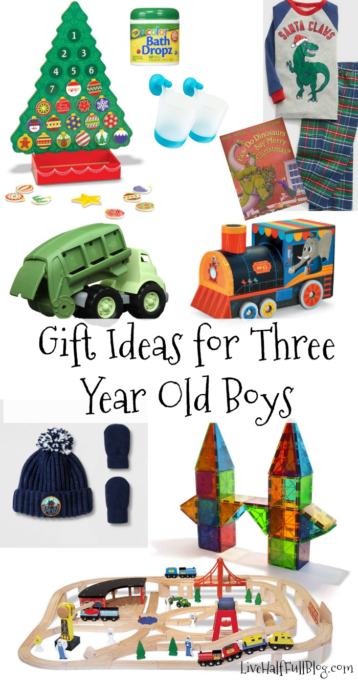 Gift Ideas for Three Year Old Boys | Live Half Full